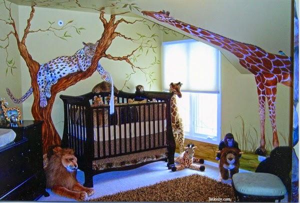 Idée déco chambre bébé jungle -
