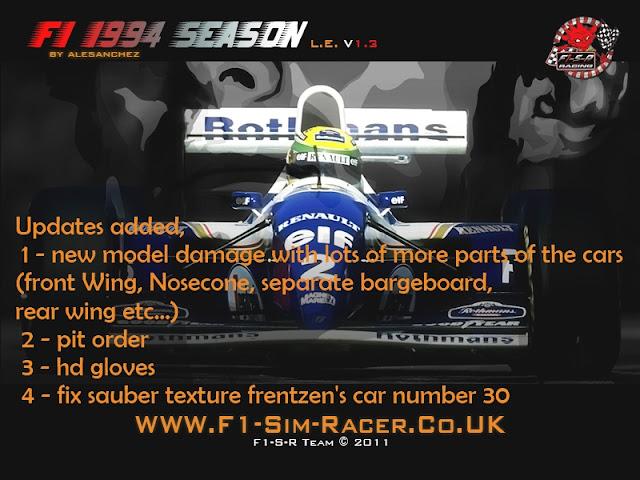 F1 1994 rFactor actualizacion
