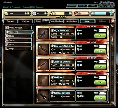 Six Gun Galaxy - Equipment Store