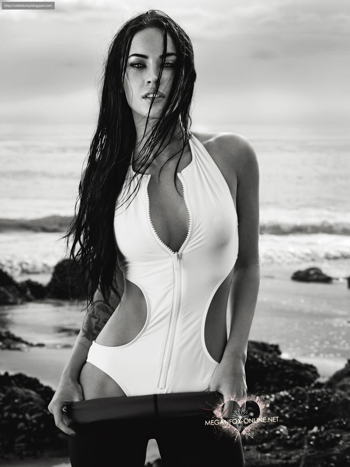 celebrity photoshoots: megan fox poses for elle