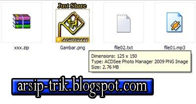 Cara Menyimpan Semua Jenis File Kedalam Sebuah Gambar