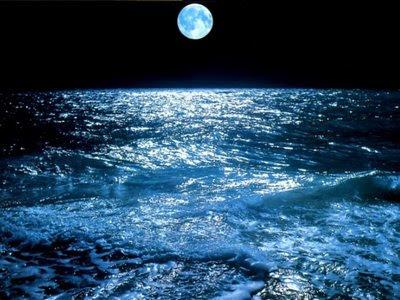 Mar bajo la luna