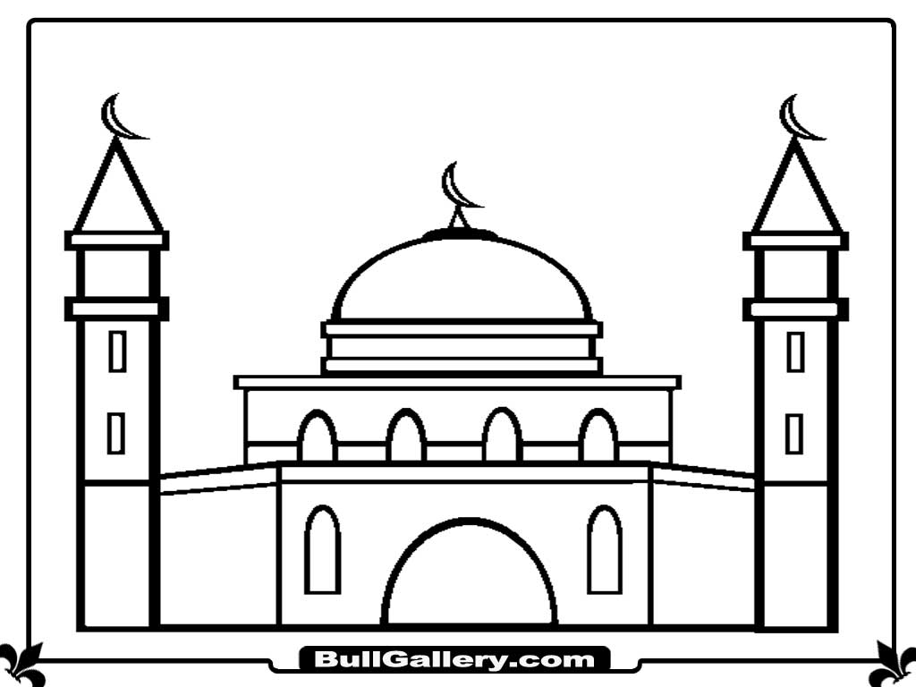 printable mosque coloring pages bull gallery