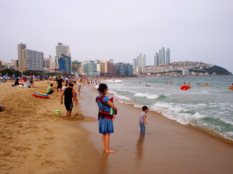 Haeundae Beach Busan Korea lunarrive Travel blog Singapore