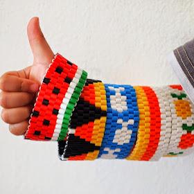 how to make all sorts of woven DIY Perler Bead Bracelets