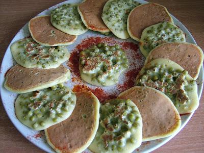 Placuszki z zielonym groszkiem