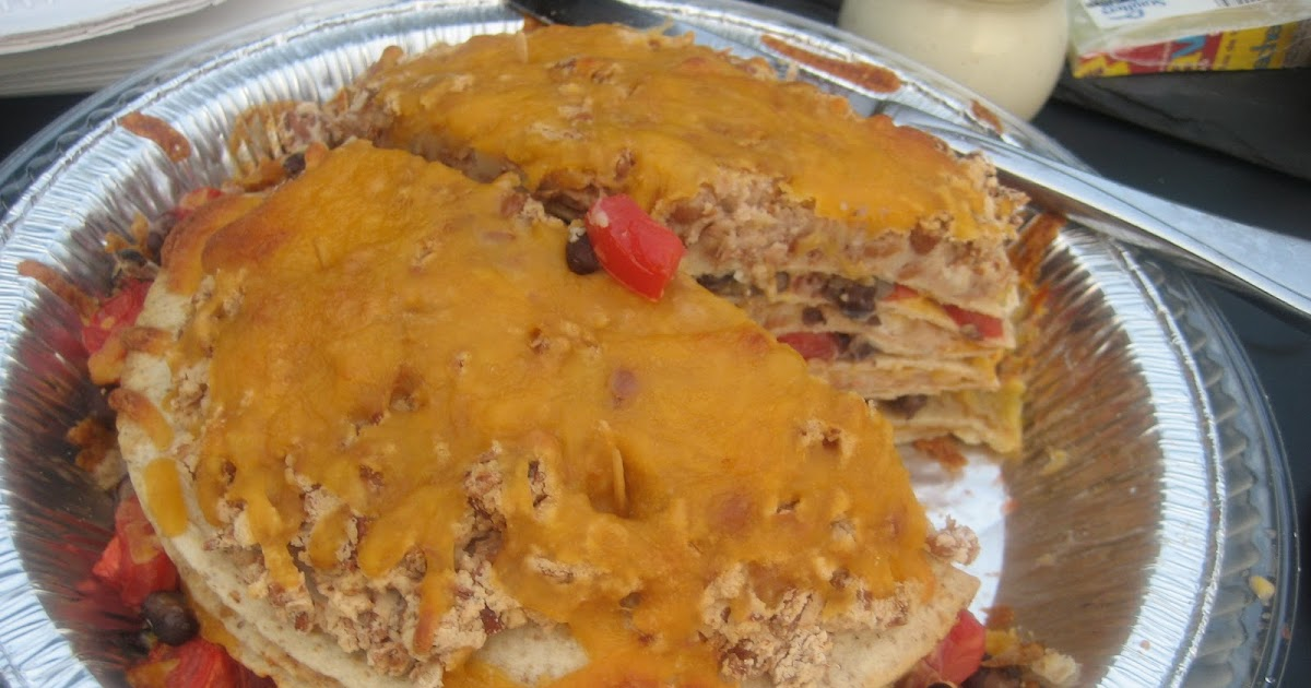 Cooking With Jilly: Seven Layer Tortilla Pie