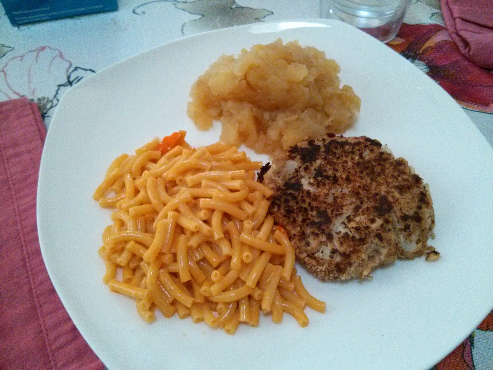 Then The Next Night I Made Macaroni And Cheese Applesauce Salmon Cakes Patrick Commented That Fixed Him All His Favorite Things