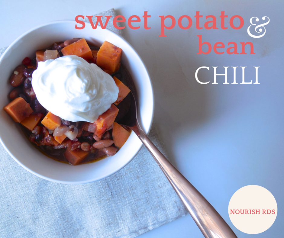 Sweet Potato & Bean Chili from Nourish RDs