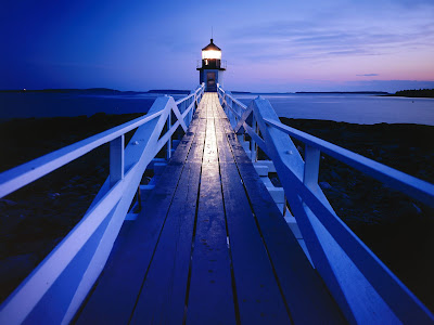 Great lighthouses on the night
