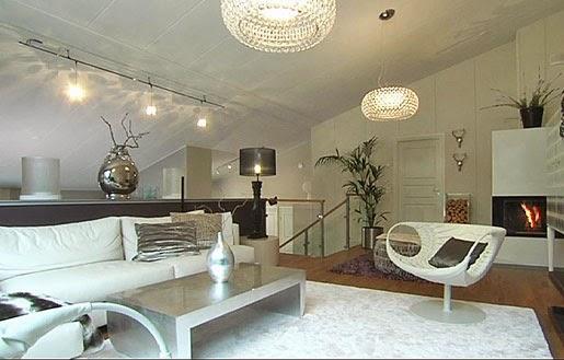 Olohuoneeseen valaisimet kattoon?  Coconut White