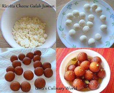 Ricotta Cheese Gulab Jamun