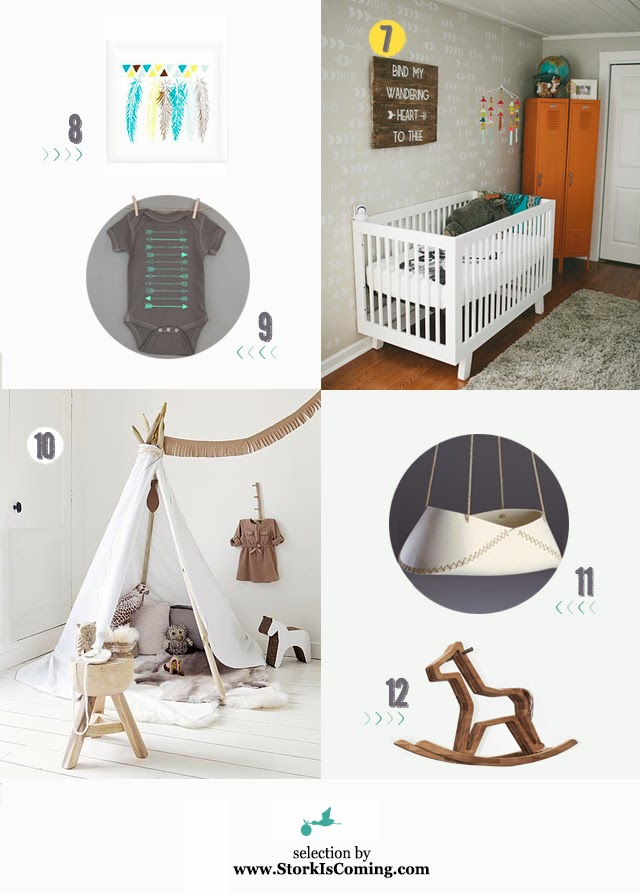Tribal Trend For Babies Its All About Arrows Tepees And Faux Taxidermy One Of The Hottest Nursery