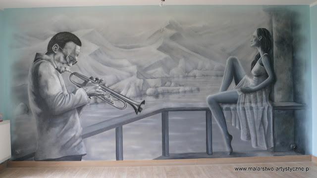 dekoracja ścienne w pokoju młodzieżowym, pokój muzyczny, Warszawa