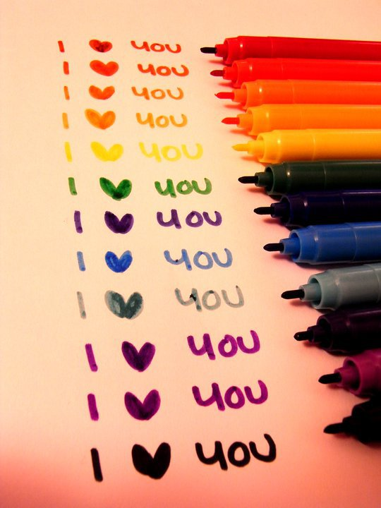 "colourful ""iloveu""!!"