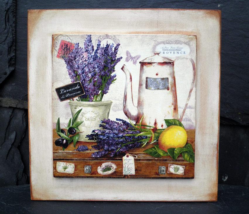 Retazos de madera cuadros de cafeteras y pastelitos - Cuadros cocina vintage ...