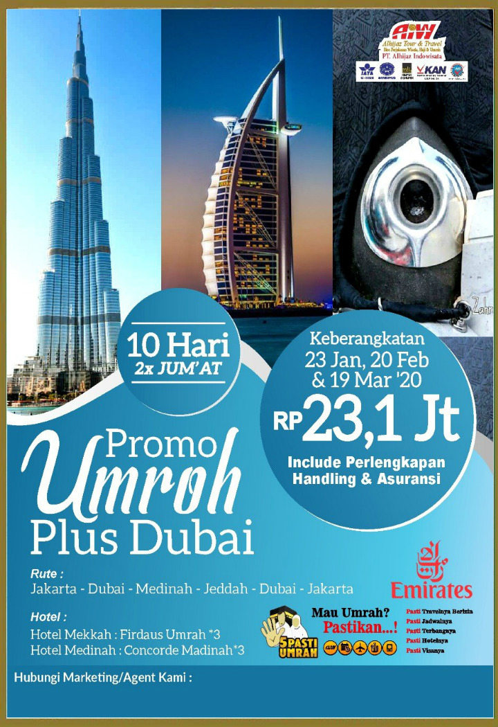 Promo Uroh 10 Hari Plus Dubai 2020