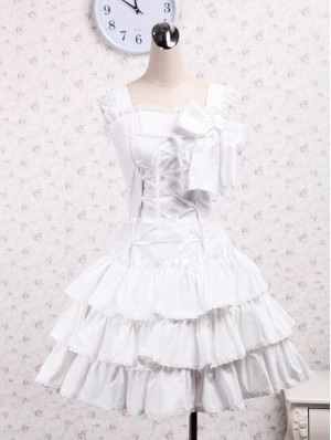 White Lace Sweet Lolita Dress