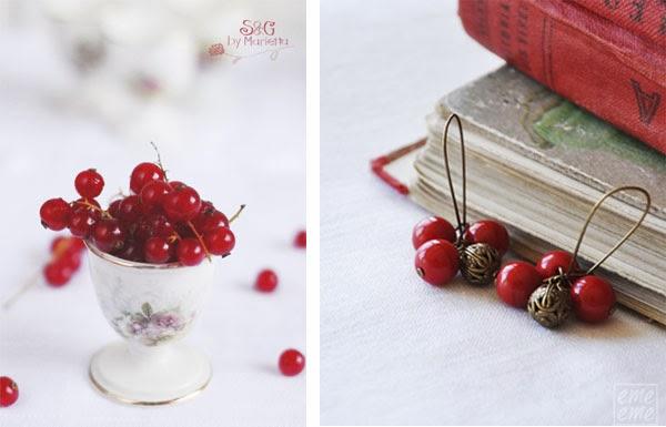 pendientes frutos rojos emeeme