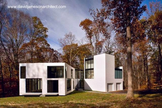 Casa minimalista en Great Falls, Virginia, Estados Unidos
