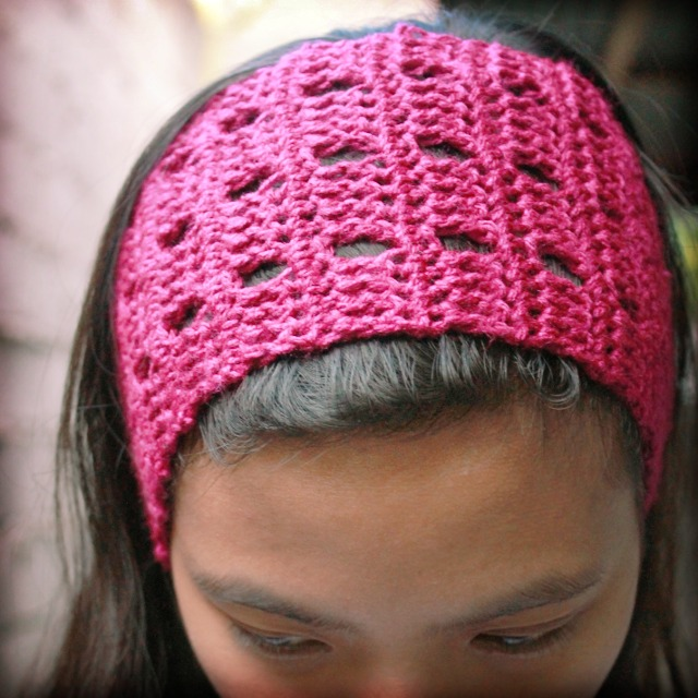 crochet wide headband