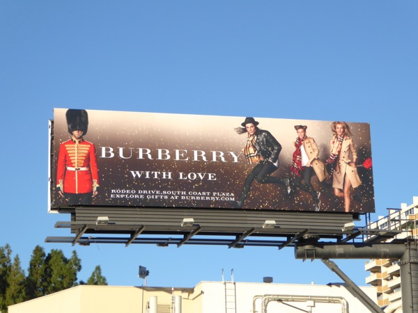 Burberry with love festive billboard