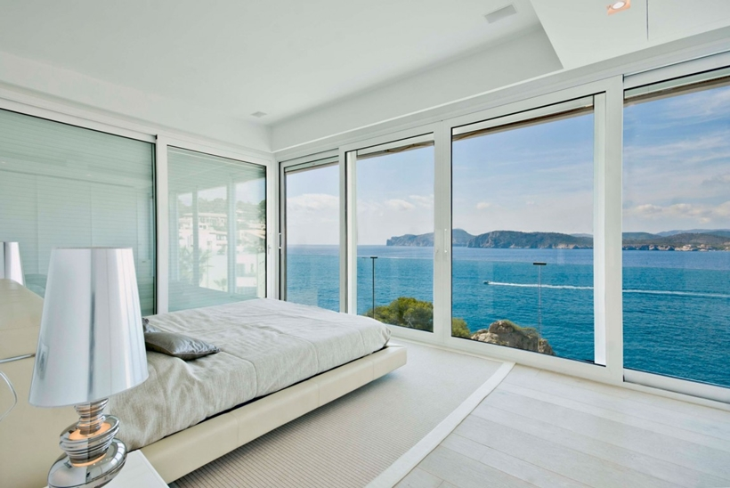 Modern White Bedroom · Ocean View From The Bedroom