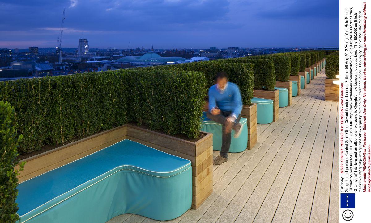 Ruang Rehat Di Atas Bumbung Google Head Quarters