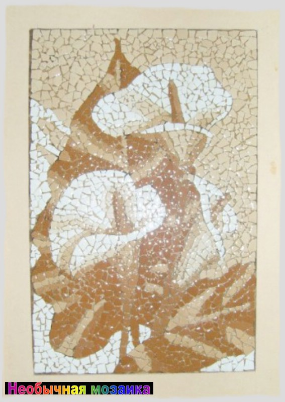 Картины из скорлупы яичной