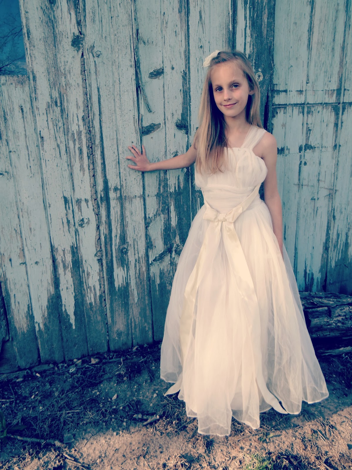 Raising 4 Princesses: in Great-Grandma\'s Wedding Dress