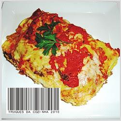 Canelone de queijo com molho de tomate