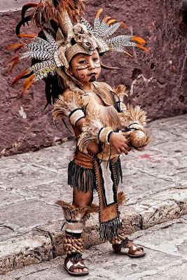 mexican indian, aztec indian, native american boy, indian boy, headdress, spiritual ceremony