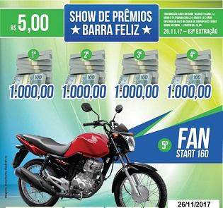 63ª EXTRAÇÃO DO SHOW DE PRÊMIOS BARRA FELIZ
