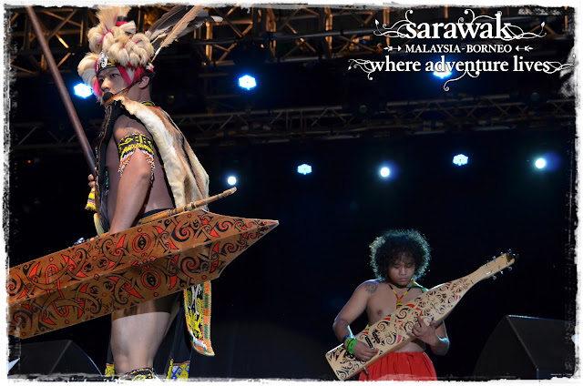 Sarawak's iconic lute - The Sape and the Orang Ulu warrior