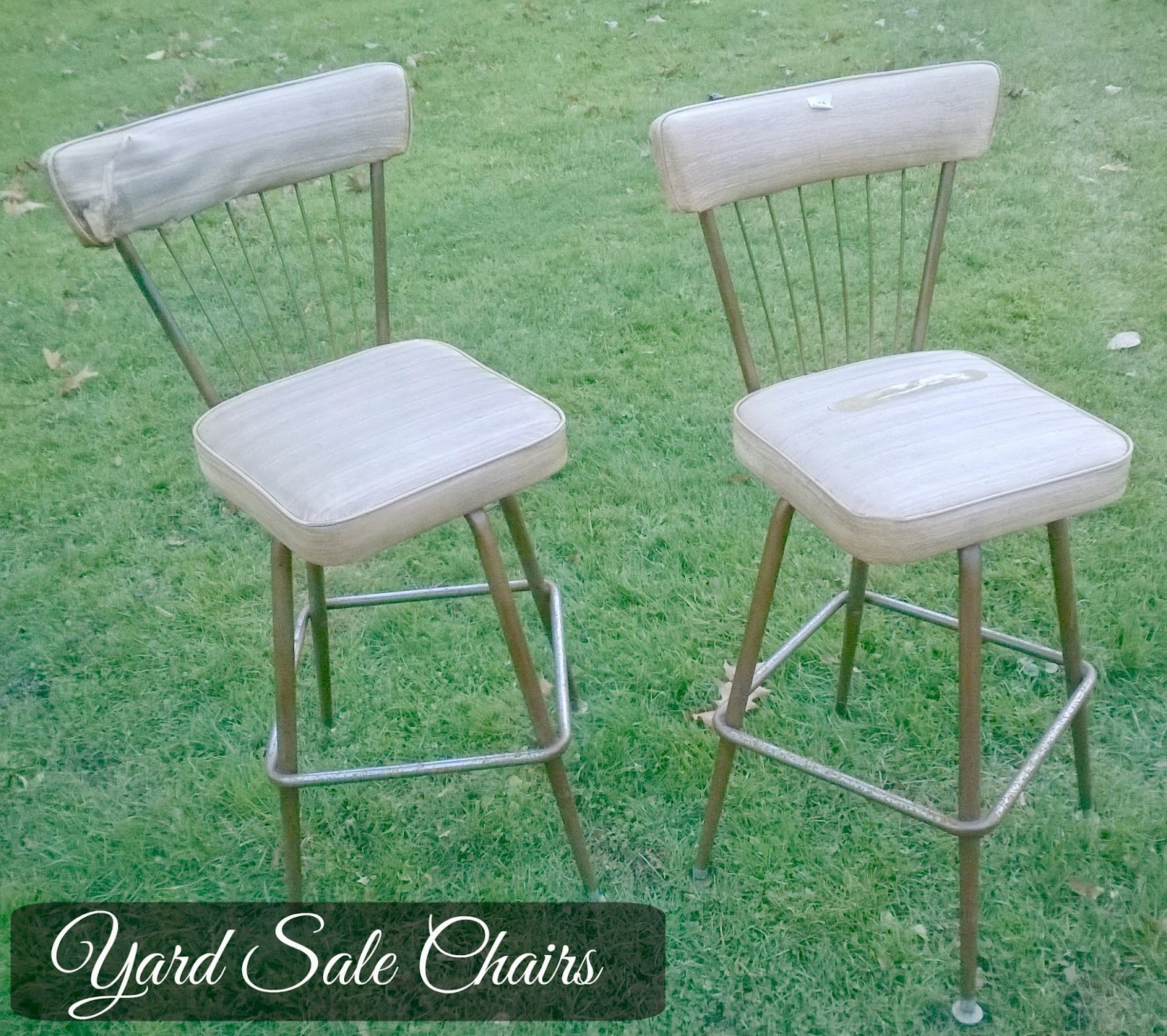 vintage kitchen chairs redo
