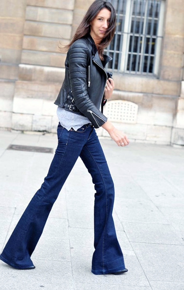 Flare jeans, Street style, fashion blogger, trends, 2015