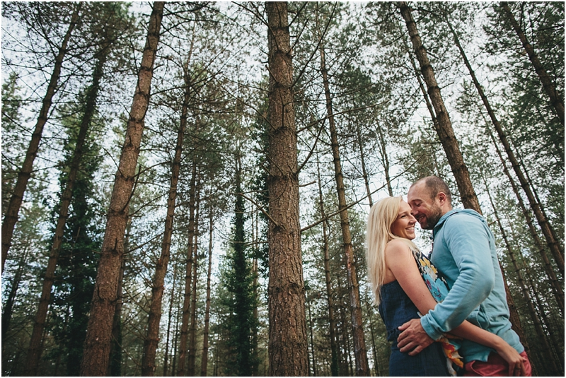 A couple in the trees at Woodbury Common