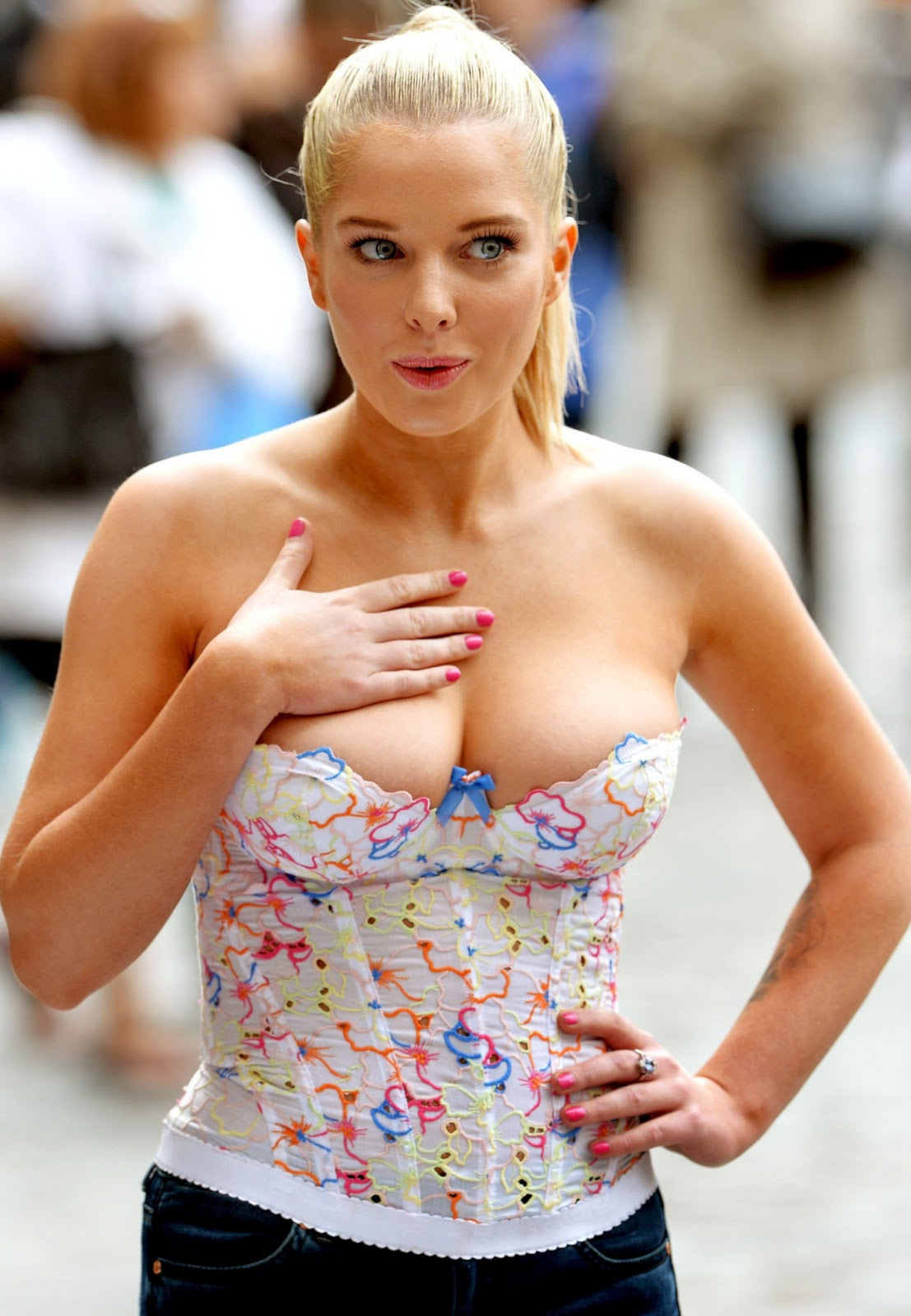 Helen Flanagan Cleavage Spills Out At Anti Exotic Skins In London