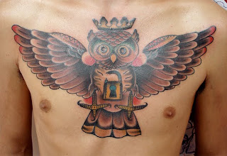 Cool Owl Tattoos On Chest Picture 6