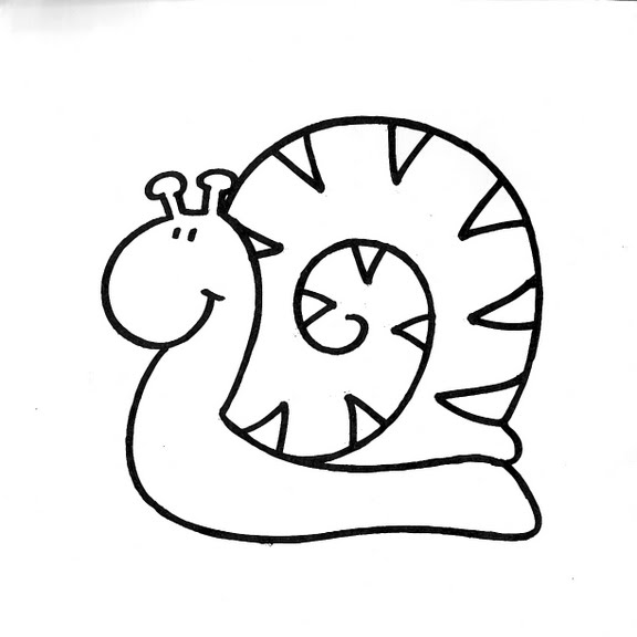 Dibujos infantiles dibujo infantil caracol for Dibujos pared infantil