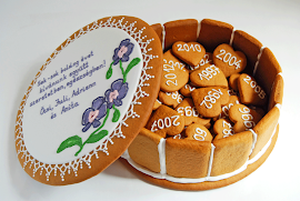 """Mézeskalács """"torta"""" házassági évfordulóra"""