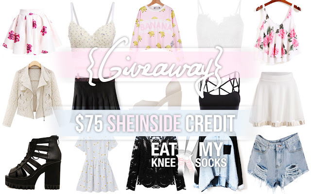 The Eat My Knee Socks/Mimchikimchi SheInside store credit giveaway! Win $75 to spend on fashion at SheInside.com by following the rules in this post.