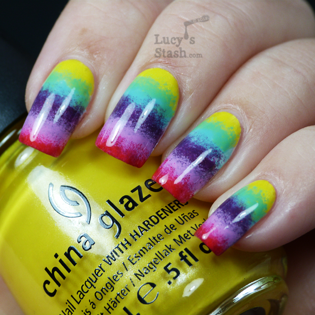 Lucy's Stash - Rainbow gradient nails