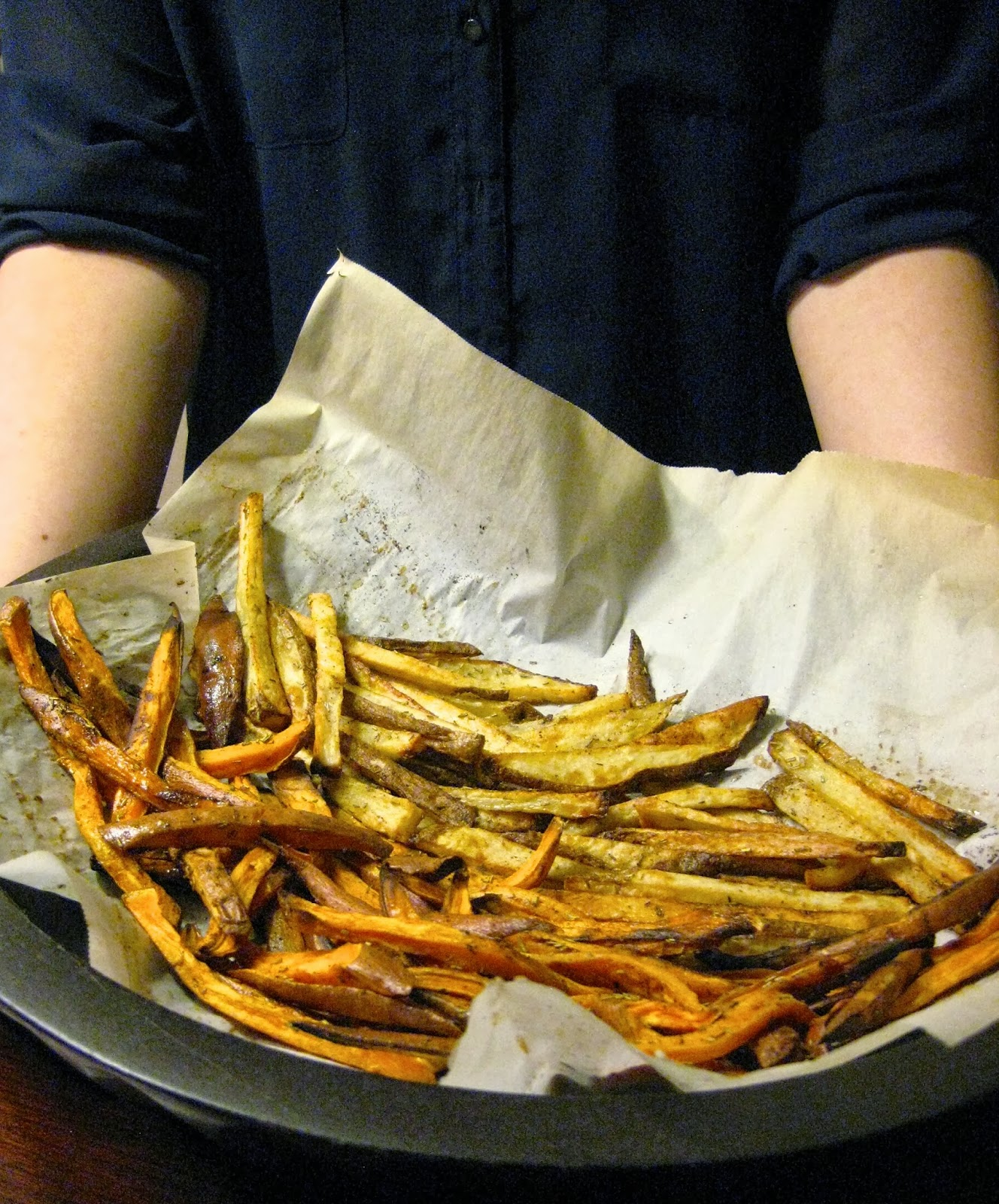 Jackson And Laguna Oven Baked Fries With Garlic Rosemary