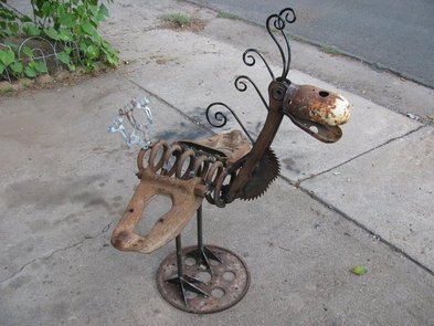 The Art Of Up Cycling Metal Garden Art Sensational Scrap Metal