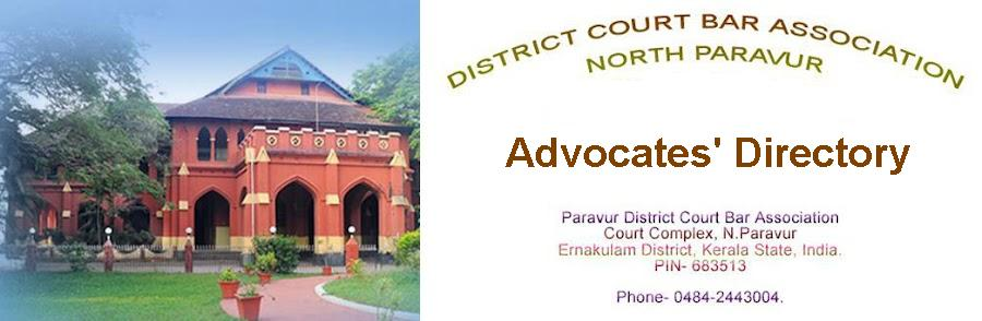 Advocates's Directory- Paravur District Court Bar Association