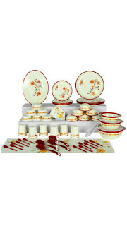 Buy Nayasa 62 Pc Floral Dinner Set at Rs. 1399 only