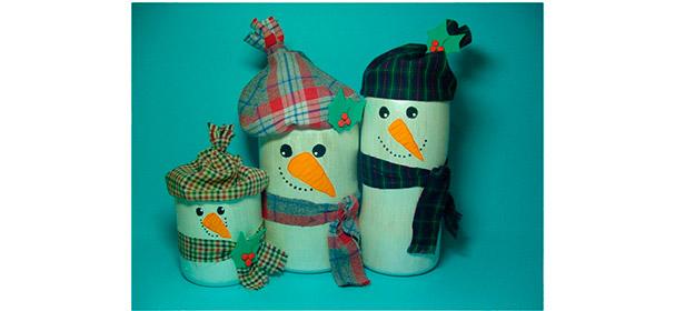 Bonecos De Neve Na Decoração De Natal Arte De Fazer Decoração E