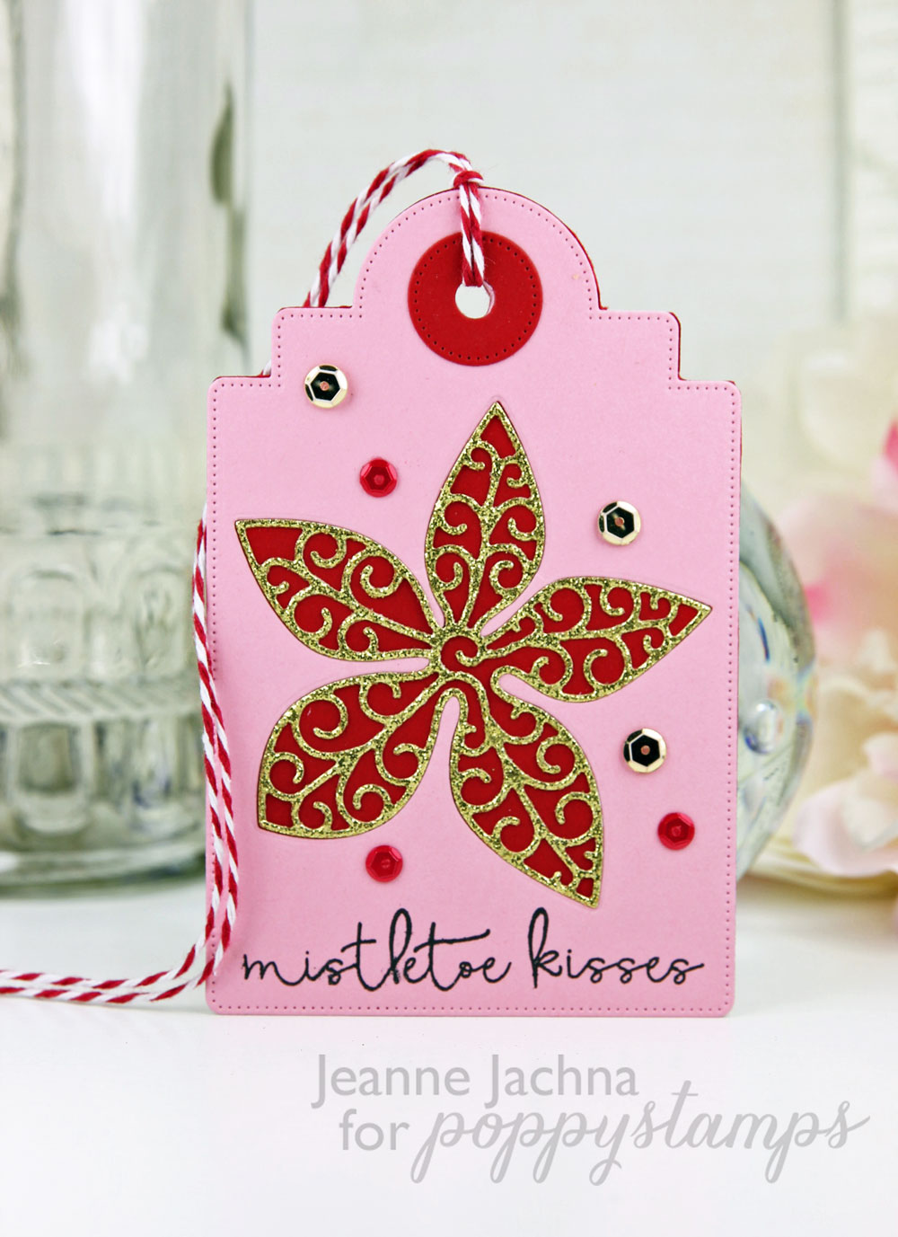 A Kept Life: 25 Days of Christmas Tags - Poppystamps Poinsettia