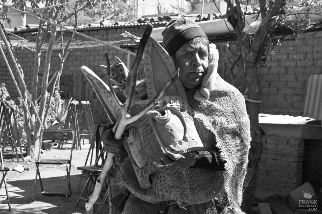 participante del carnaval de san martin tilcajete